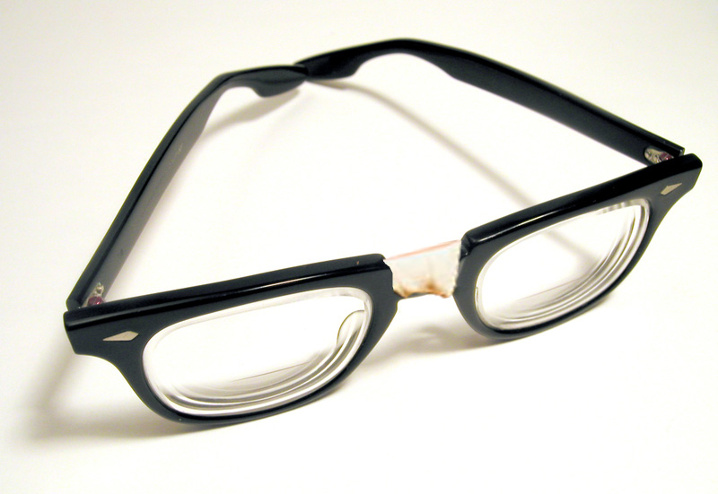 Taped eyeglasses
