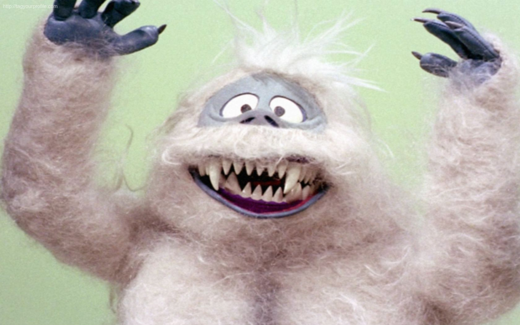 Clipart of a Cartoon Yeti Abominable Snowman with Open ...