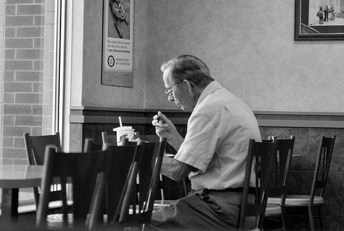 old man eating alone in a Grab the tissues and get ready for a good cry this week, an elderly man sat by himself at a bay area in-n-out burger nothing special, right wrong he caught the.